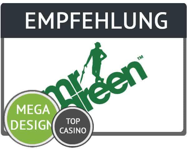 Empfehlung Mr Green Gutschein