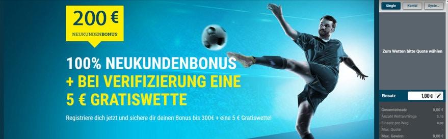 Sportwetten Gutschein 200€